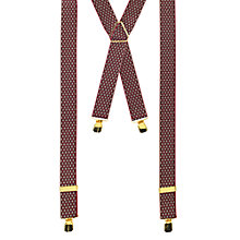Buy John Lewis Diamond Braces, Wine/Gold Online at johnlewis.com