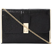Buy Dune Beccor Lurex Clutch Handbag, Black Online at johnlewis.com