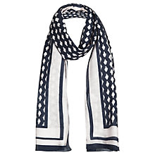 Buy Jigsaw Moroccan Tile Scarf, Blue Online at johnlewis.com