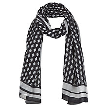 Buy Jigsaw Moroccan Print Scarf, Black Online at johnlewis.com