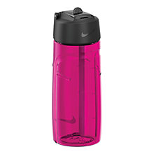 Buy Nike T1 Flow Water Bottle, 473ml, Pink/Black Online at johnlewis.com