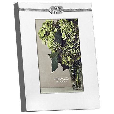 "Buy Vera Wang Infinity Photo Frame, 4 x 6"" (10 x 15cm), Silver Online at johnlewis.com"