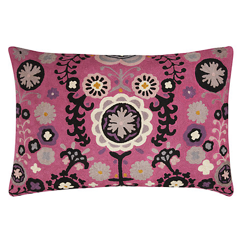 Buy Niki Jones Folk Cushion, Fuchsia Online at johnlewis.com