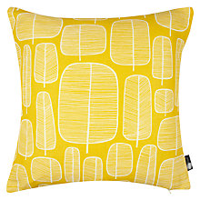 Buy MissPrint Little Trees Cushion, Yellow Online at johnlewis.com