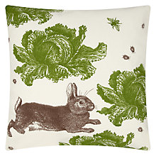 Buy Thornback & Peel Rabbit & Cabbage Cushion Online at johnlewis.com