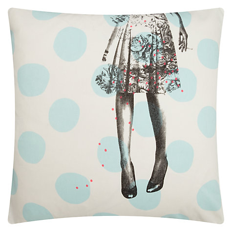 Buy La Cerise Sur Le Gateau Alice Pois Cushion Online at johnlewis.com