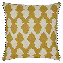 Buy Niki Jones Lattice Cushion, Chartreuse Online at johnlewis.com