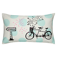Buy La Cerise Sur Le Gateau Tandem Pois Cushion Online at johnlewis.com
