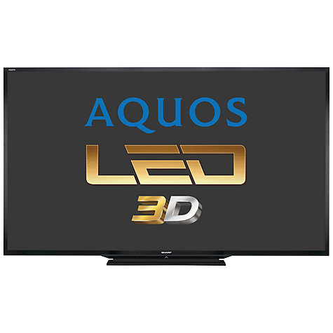 "Buy Sharp Aquos LC90LE757K LED HD 1080p 3D Smart TV, 90"" with Freeview HD Online at johnlewis.com"