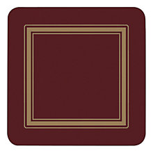 Buy Pimpernel Burgundy Classic Coasters, Set of 6, Multi Online at johnlewis.com