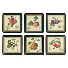 Buy Pimpernel Hooker Fruits Coasters, Set of 6 Online at johnlewis.com