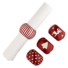 Buy House by John Lewis John Lewis Wooden Christmas Napkin Rings, Set of 4 Online at johnlewis.com