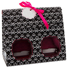 Buy Little Venice Cake Company Duo Cupcake Boxes, Pack of 4, Black/Pink Online at johnlewis.com