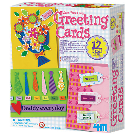 Buy Great Gizmos Make Your Own Greeting Cards Kit Online at johnlewis.com