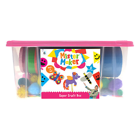 Buy Mister Maker Super Craft Box, Pink Online at johnlewis.com