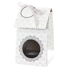 Buy Little Venice Cake Company Single Cupcake Boxes, Pack of 4, White/Silver Online at johnlewis.com