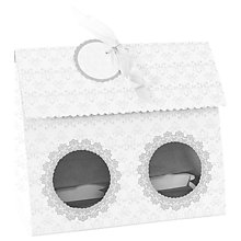 Buy Little Venice Cake Company Duo Cupcake Boxes, Pack of 4, White/Silver Online at johnlewis.com