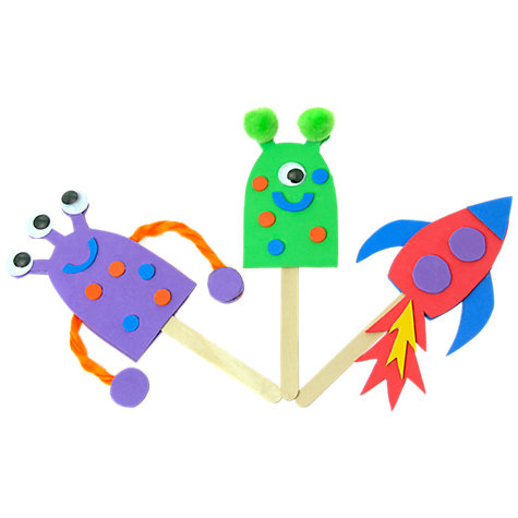 Buy Mister Maker Mini Makes Space Puppets Online at johnlewis.com