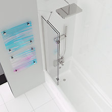 Buy John Lewis Left-Hand Duo Two Panel Shower Screen Online at johnlewis.com