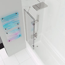 Buy John Lewis Right-Hand Duo Two Panel Shower Screen Online at johnlewis.com