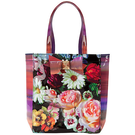 Buy Ted Baker Printed Bow Small Icon Shopper Bag Online at johnlewis.com