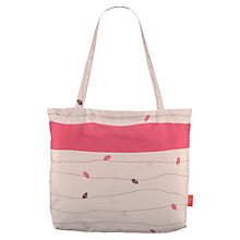 Buy Radley Leather Leaf Foldaway Tote Handbag, Pink Online at johnlewis.com