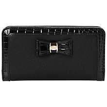 Buy Dune Kebow Contrast Trim Purse, Black Online at johnlewis.com