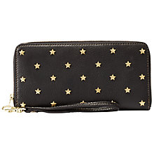 Buy Fossil Sydney Star Clutch Purse, Black Online at johnlewis.com