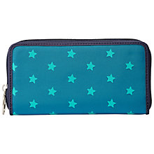 Buy Fossil Keyper Zipped Clutch Purse, Teal Stars Online at johnlewis.com