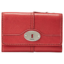 Buy Fossil Marlow Multifunction Wallet, Cranberry Online at johnlewis.com