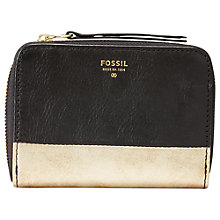Buy Fossil Sydney Zip Phone Wallet, Black Online at johnlewis.com