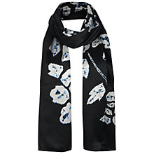 Buy Jigsaw Batik Floral Scarf, Black Online at johnlewis.com