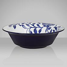 Buy Denby Malmo Bloom Soup/ Cereal Bowl, H6 x Dia.18cm, Blue/ White Online at johnlewis.com