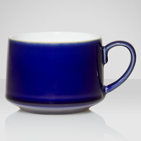 Buy Denby Malmo Teacup, 0.2L, Blue/ White Online at johnlewis.com