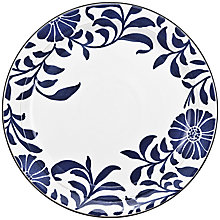 Buy Denby Malmo Bloom Dessert Plate, Dia.23cm, Blue/ White Online at johnlewis.com