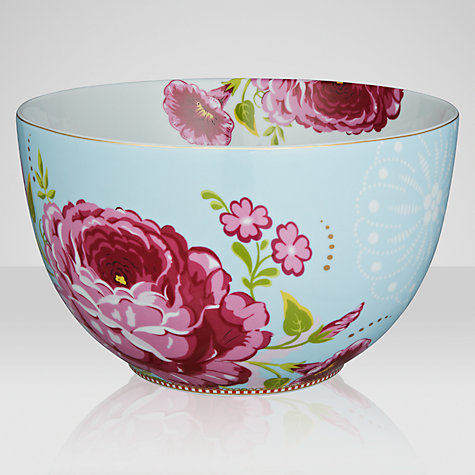 Buy PiP Studio Floral Blue Bowl, Dia.23cm, Blue Online at johnlewis.com
