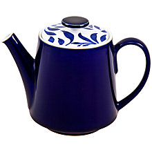 Buy Denby Malmo Bloom Teapot, 1L, Blue/ White Online at johnlewis.com