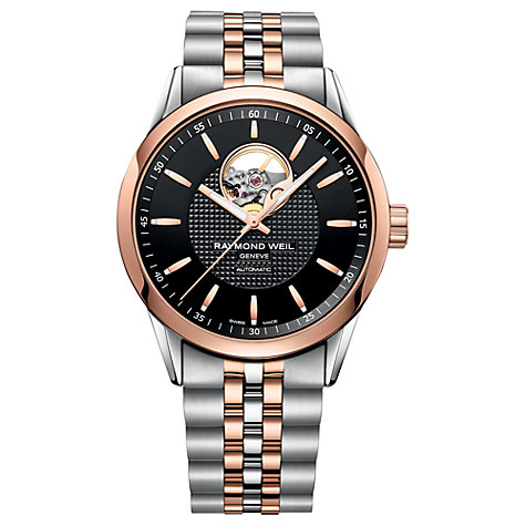 Buy Raymond Weil 2710-SP520021 Men's Freelancer Stainless Steel Two Tone Watch, Rose Gold Online at johnlewis.com