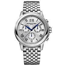 Buy Raymond Weil 4476-ST00650 Men's Tradition Chronograph Stainless Steel Strap Watch Online at johnlewis.com