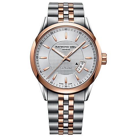 Buy Raymond Weil 2730-SP565021 Men's Freelancer Two Tone Stainless Steel Watch, Rose Gold Online at johnlewis.com