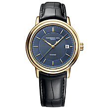 Buy Raymond Weil 2837-PC50001 Men's Maestro Automatic Leather Strap Watch, Gold Online at johnlewis.com
