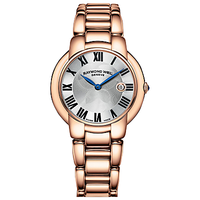 Raymond Weil 5235-P501659 Women's Jasmine Bracelet Strap Watch, Rose Gold/Silver