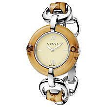 Buy Gucci Women's Bamboo D-Link Bracelet Watch Online at johnlewis.com