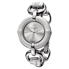 Buy Gucci YA132406 Women's Brushed Dial Bracelet Strap Watch, Silver Online at johnlewis.com