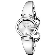 Buy Gucci Women's Guccissima Stainless Steel Bangle Strap Watch Online at johnlewis.com