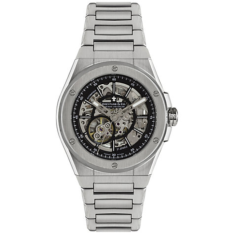 Buy Dreyfuss & Co DGB00079/20 Men's Seafarer Skeleton Dial Stainless Steel Watch Online at johnlewis.com