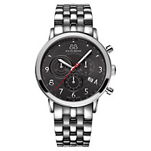 Buy 88 Rue Du Rhone 87WA120055 Men's Chronograph Stainless Steel Bracelet Watch, Grey Online at johnlewis.com