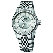 Buy Oris 75476794061MB Men's Big Crown Pointer Date Bracelet Strap Watch, Silver Online at johnlewis.com