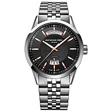 Buy Raymond Weil 2720-ST520021 Men's Freelancer Automatic Stainless Steel Strap Watch, Silver Online at johnlewis.com