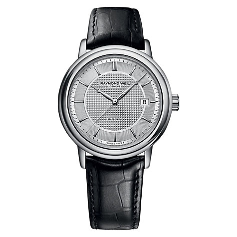Buy Raymond Weil 2837-SL565001 Men's Maestro Automatic Leather Strap Watch, Black Online at johnlewis.com